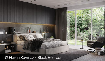 Harun Kaymaz Black Bedroom