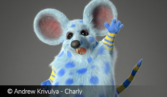 Andrew Krivulya cartoon rat 3D contest
